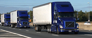 Truck platooning demonstration on Interstate 66