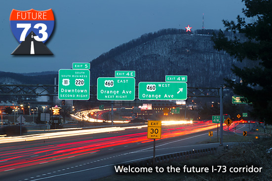 Welcome to the future I-73 Corridor in Virginia