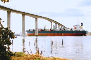 Ship at Jordan Bridge