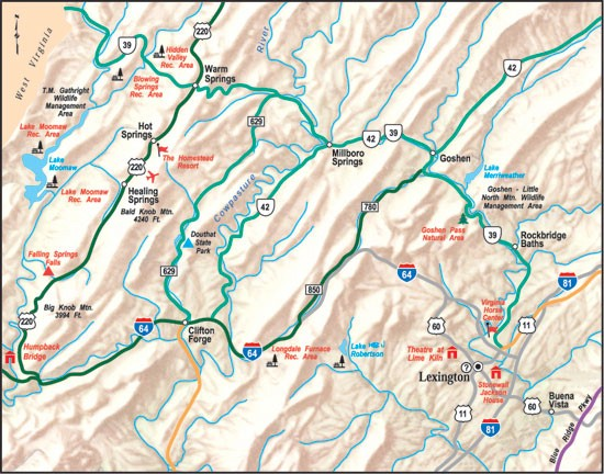 Map of Alleghany Highlands