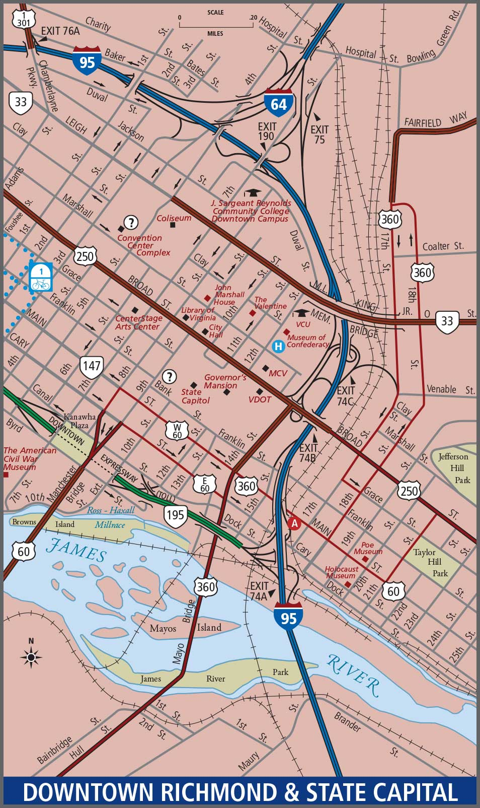 Downtown Richmond Map