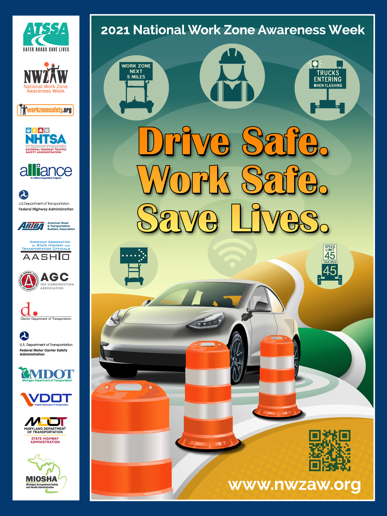 2021 Work Zone Awareness Week Poster